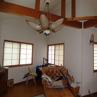 37・木造住宅の改修 「タブノキのある家」の2階居間食堂の現況。_c0195909_15232355.jpg