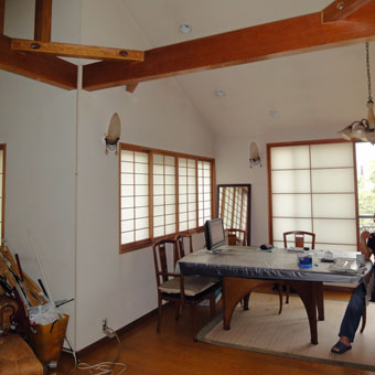 37・木造住宅の改修 「タブノキのある家」の2階居間食堂の現況。_c0195909_15233498.jpg