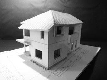 42・木造住宅の改修 「タブノキのある家」の検討模型 その1_c0195909_223278.jpg