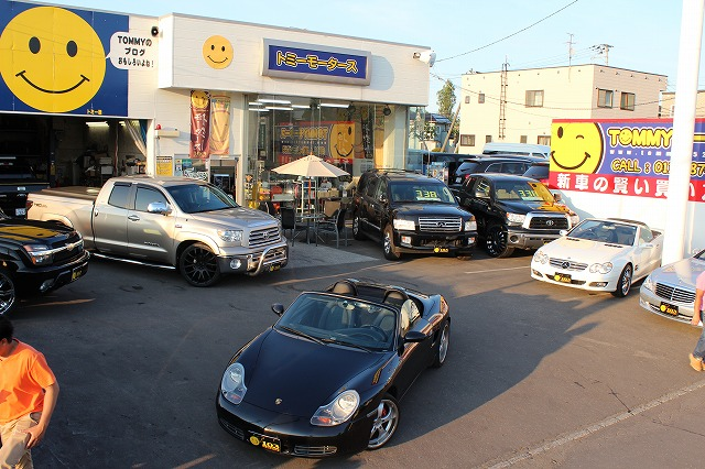 輸入車コーナー タンドラ、インフィニティQX56、ベンツS、SL、ポルシェボクスター_b0127002_2050161.jpg