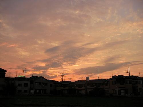 6/27 (水)夕焼け_a0059812_22382897.jpg