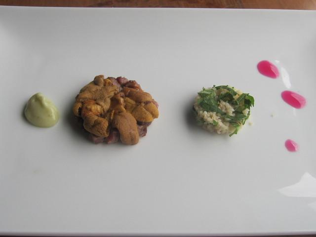 7月の料理出来ました「牛肉とウニ」_d0177560_169549.jpg