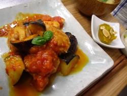 6/28晩ごはん:茄子とチキンの軽いトマト煮込み_a0116684_18361830.jpg