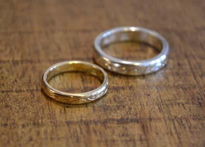 和彫りの結婚指輪_f0155891_15301670.jpg