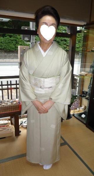 北九州からのお客様と単衣の装い2パターン。_f0181251_16595823.jpg