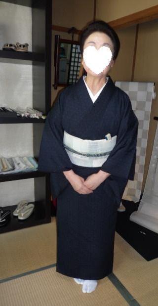 北九州からのお客様と単衣の装い2パターン。_f0181251_17162530.jpg