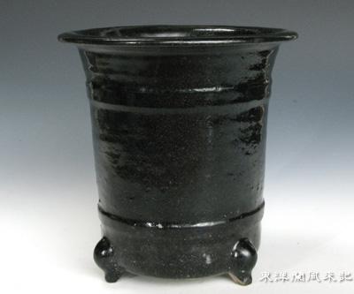 京薩摩・楽焼風鉢                    No.452_b0034163_21561616.jpg