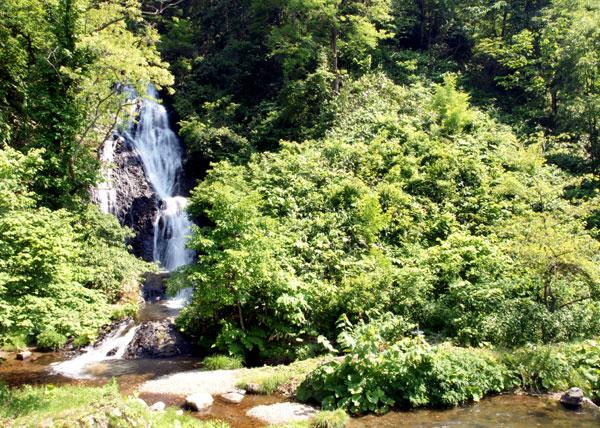 梅雨の晴れ間の岩木山、小坂七滝など_a0136293_15415898.jpg