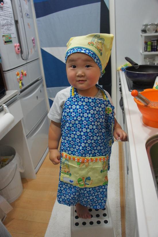 画像 : 大人と子供の手作りエプロンの作り方(カフェ Aライン ...