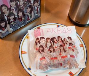 プリント中、もう一息!。AKB48ドーナッツを食べて只今休憩中。_b0194208_0183964.jpg