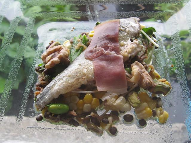 7月の料理「鮎と生ハム」_d0177560_14332627.jpg