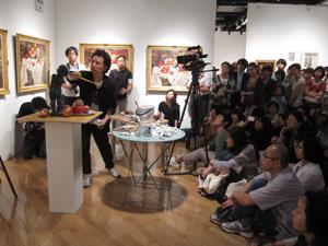『森村泰昌 美術史への誘い』スタート & イベントレポート_f0023676_20435579.jpg