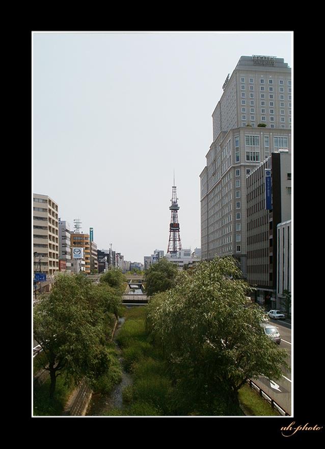 石狩街道、北3条陸橋から見た風景_b0181889_603845.jpg