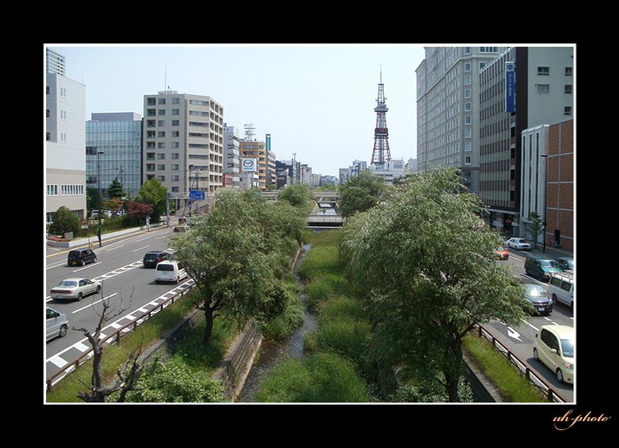 石狩街道、北3条陸橋から見た風景_b0181889_605096.jpg