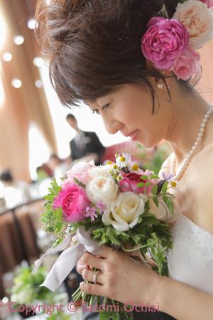 オーガニックフラワーのウエディングブーケ☆心温まるWedding Party _b0138802_19101033.jpg