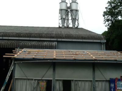 吉野工場 休憩室の屋根改修工事_c0124828_241793.jpg