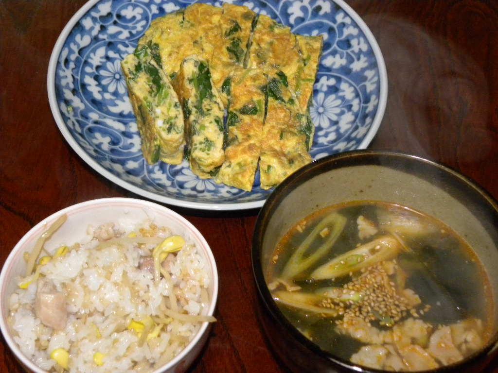 豆もやしご飯定食_c0162773_20262410.jpg
