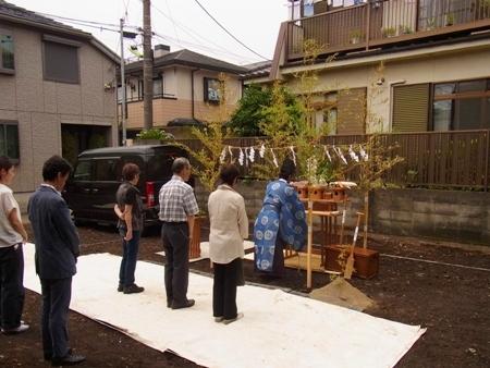 「松原の家Ⅱ」地鎮祭_c0019551_19245831.jpg