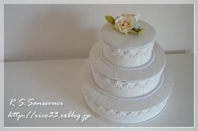 ホワイトウエディングケーキ完成!_d0222715_2211267.jpg