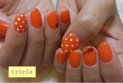 オレンジネイルとピーコックネイル_c0071924_20134256.jpg