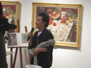 『森村泰昌 美術史への誘い』公開制作_f0023676_19475845.jpg