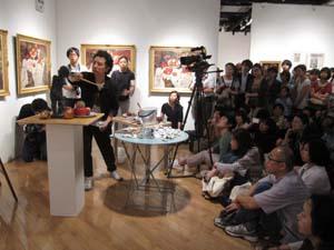 『森村泰昌 美術史への誘い』公開制作_f0023676_19492939.jpg