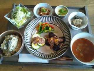 夏野菜の肉味噌あんかけ☆_d0237564_13271242.jpg