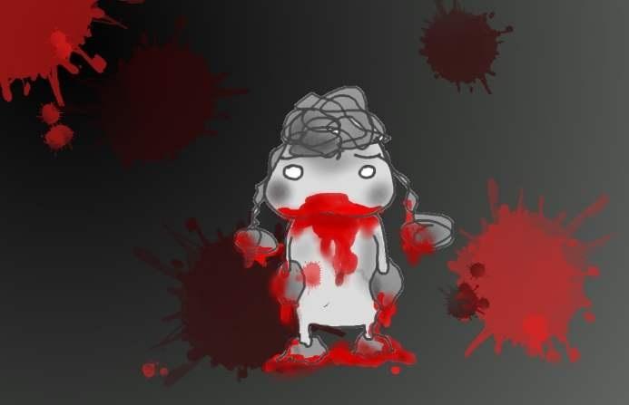 そう、それは正に13日の金曜日 怖い怖い犬の鼻血の話_f0096569_6531711.jpg
