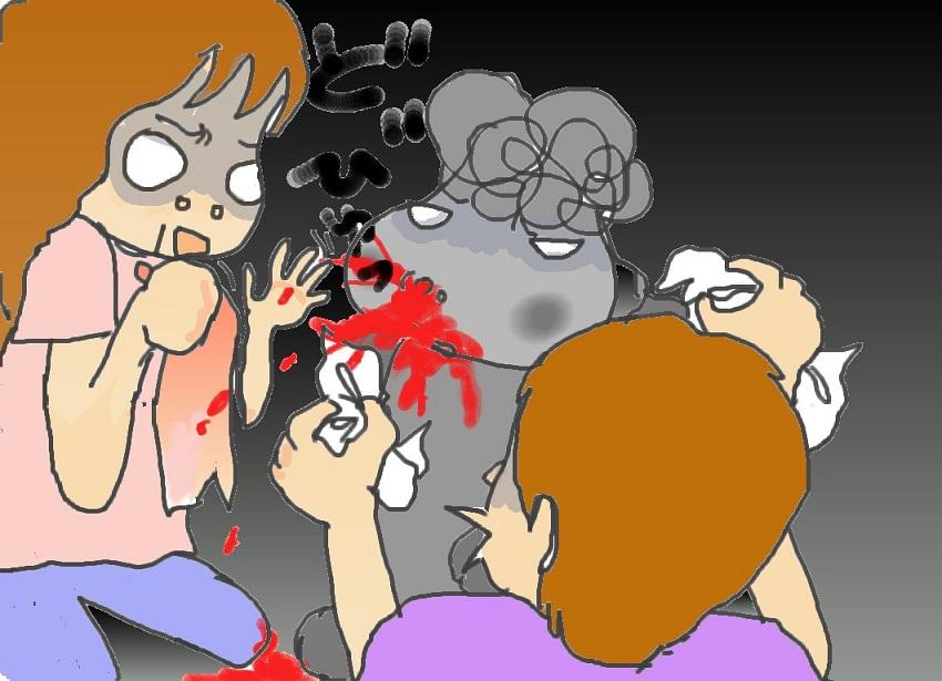 そう、それは正に13日の金曜日 怖い怖い犬の鼻血の話_f0096569_7382393.jpg