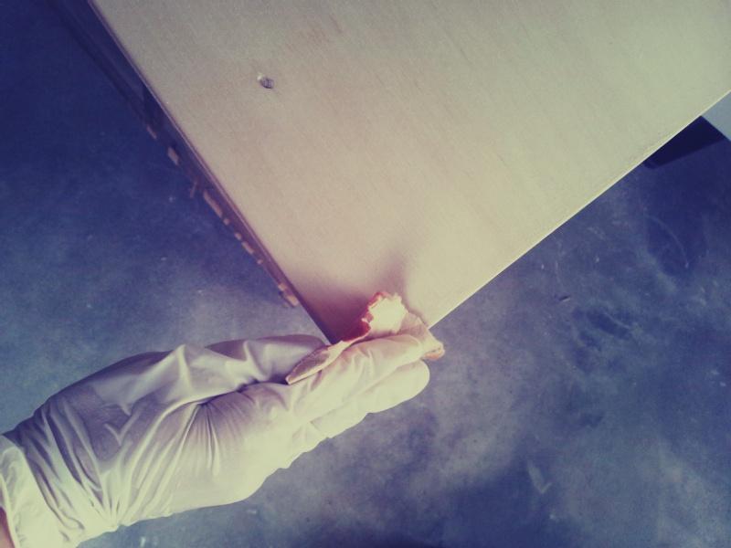 陳列用机の天板作りとひよこ雑貨店店長_c0246783_20303810.jpg