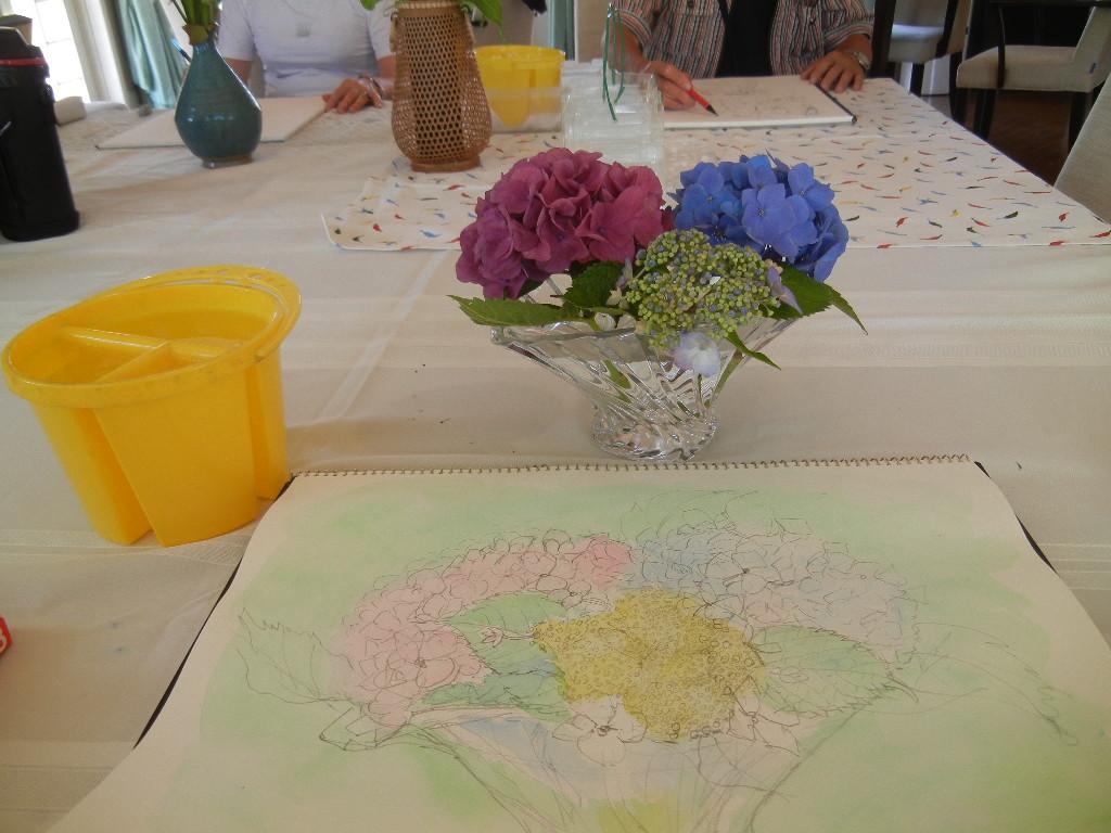'12,7,9(月)真夏の青い空と水彩画教室!_f0060461_6273461.jpg