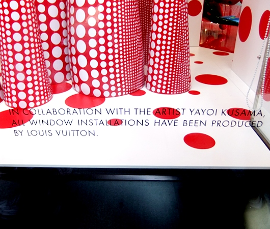 草間彌生さんとルイ・ヴィトンがニューヨーク旗艦店でキャンペーン_b0007805_13415441.jpg
