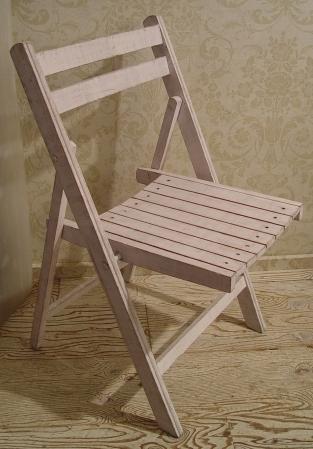 白ペンキ・木製折りたたみイス 2脚仕上がりました!_a0096367_21233437.jpg