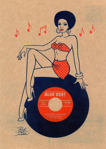 Blue Beat と Red Hot MamaのコラボTシャツ販売中!_d0240091_17411046.jpg