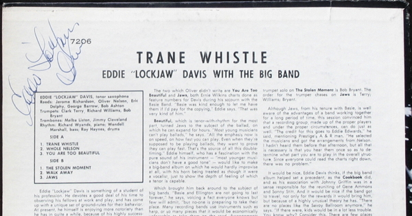 "んー本人か?(Eddie ""lockjaw\"" Davis/TRANE WHISTLE)_d0027243_1318492.jpg"