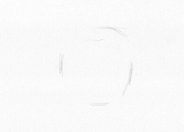 形を正確に再現するーその⑵リンゴ(前半)_f0227963_14573540.jpg
