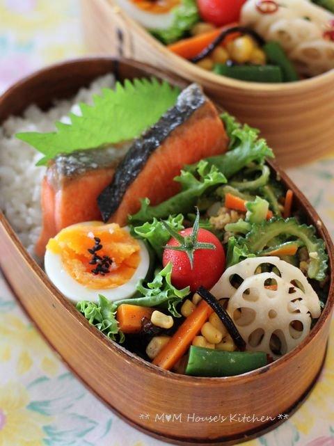 野菜いっぱいのお弁当 ☆ 野菜いっぱいの晩ご飯♪_c0139375_12444822.jpg