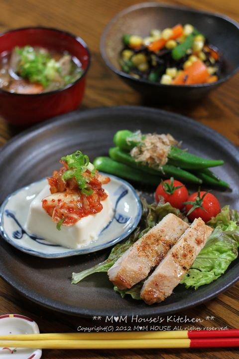 野菜いっぱいのお弁当 ☆ 野菜いっぱいの晩ご飯♪_c0139375_124582.jpg