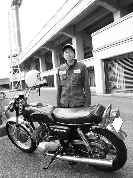 水澤 航 & kawasaki 500SS MACH3(2012 0618)_f0203027_11124336.jpg