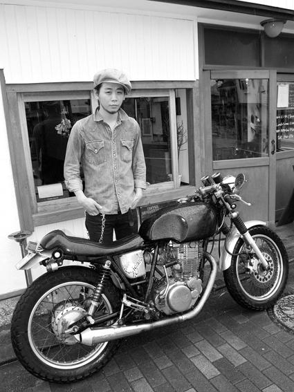 武宮 慎太郎 & YAMAHA SR400(2012 0621)_f0203027_1143936.jpg