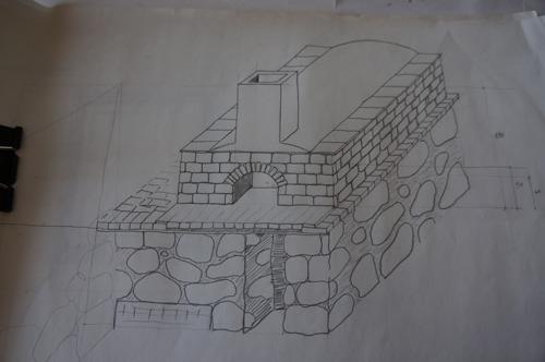 石窯作業更に進行中~アントネッロの「自分で石窯を作る」_f0106597_328421.jpg