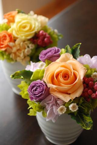 退職お祝い用アレンジ_a0136507_17493140.jpg