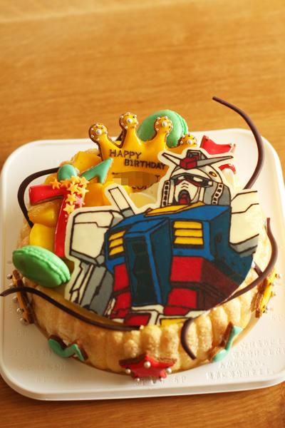 ガンダムとキャンディーのお誕生日ケーキ_f0149855_10335293.jpg