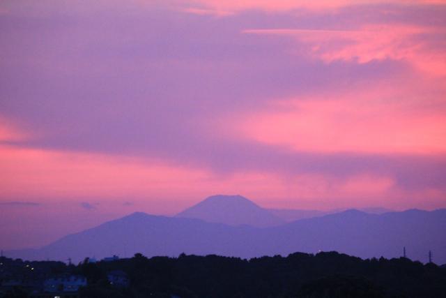 ピンク色の空と富士山。息子の盆踊り。 : *mariuroko**