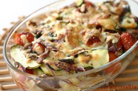 夏野菜のグラタン_d0183440_13582448.jpg