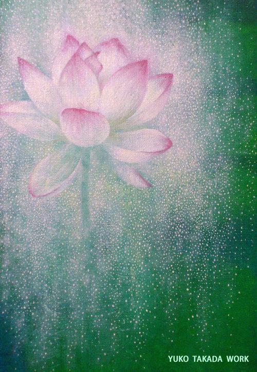 時間の花、蓮を描く。_b0240382_21453932.jpg