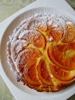 オレンジのベイクドチーズタルト_f0229521_1047952.jpg