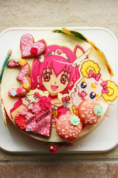 プリキュアのお誕生日ケーキ_f0149855_1822583.jpg