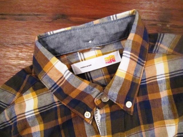 "melple \""RIV TEE & チェックシャツ\"" ご紹介_f0191324_9312181.jpg"