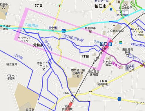 狛江暗渠ラビリンス(3)清水川の源流につながっていた「相の田用水堀」_c0163001_23365825.jpg